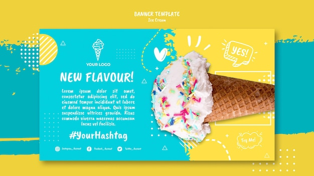 Banner con tema gelato