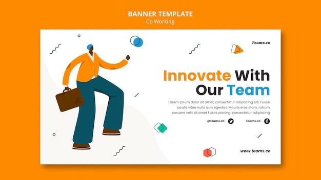 Banner de concepto de coworking