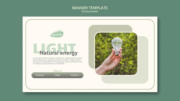 Banner con concepto de medio ambiente