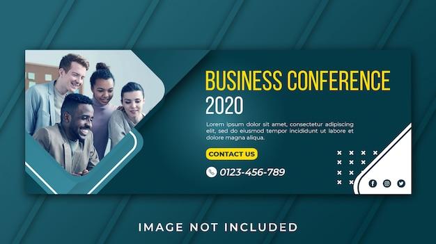 Banner conferenza d'affari di facebook