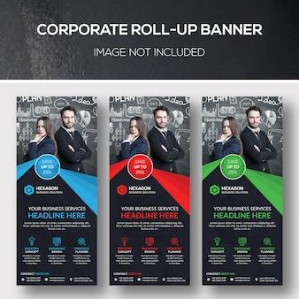 Banner corporativo enrollable