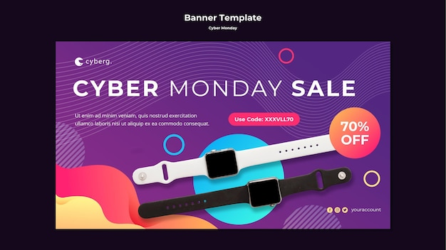 Banner cyber maandag sjabloon