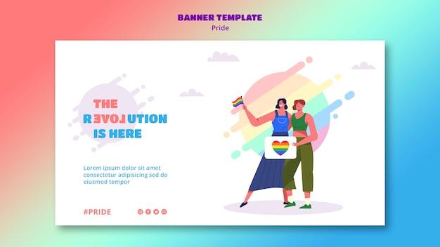 Banner del giorno dell'orgoglio