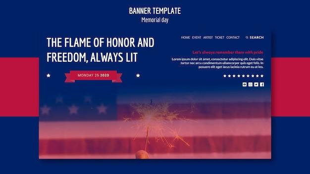 Banner del memorial day