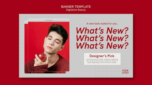 Banner di bellezza digitalismo con foto