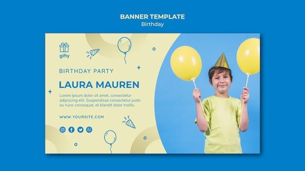 Banner di buon compleanno