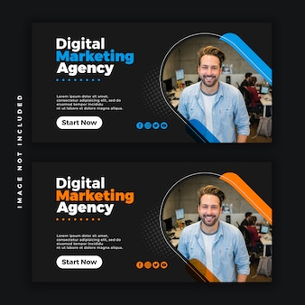 Banner di business creativo web social media psd