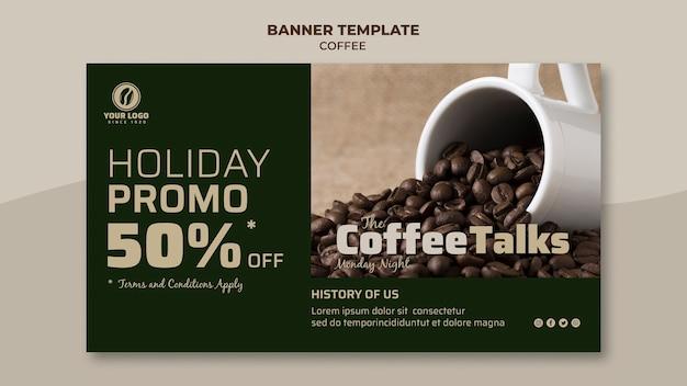 Banner di caffè con promozione