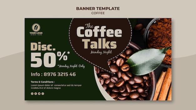 Banner di caffè con sconto