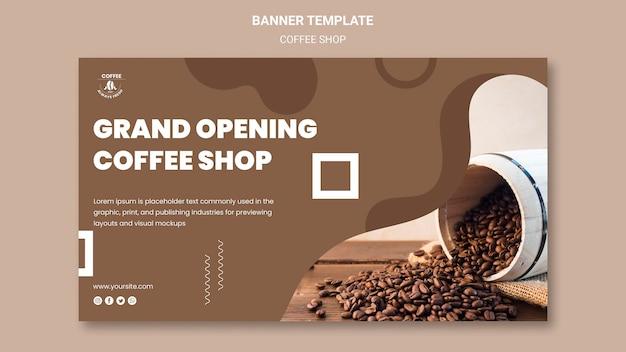 Banner di caffetteria