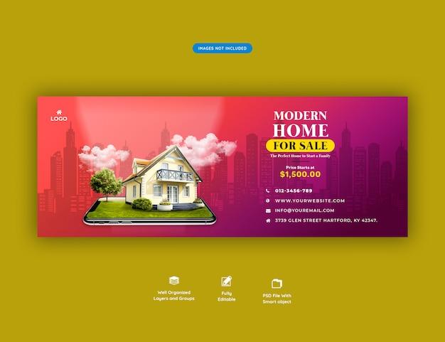 Banner di casa moderna in vendita