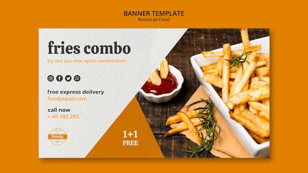 Banner di cibo americano settimana succosa hamburger