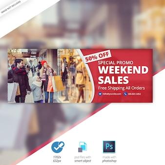 Banner di copertina di timeline di vendita speciale di facebook