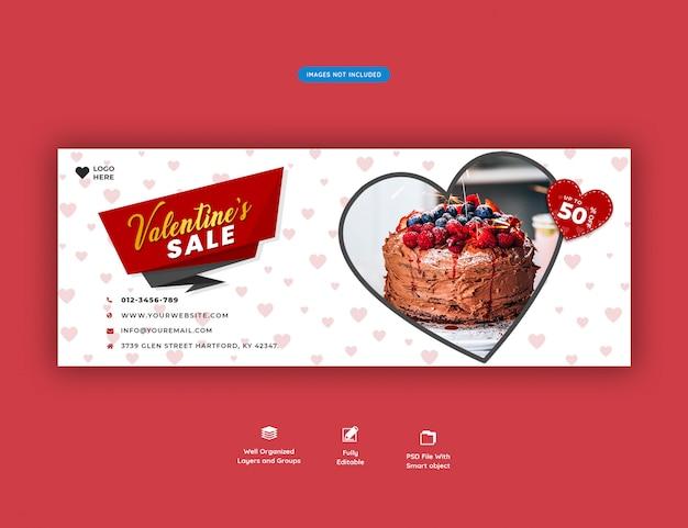 Banner di copertina facebook di san valentino in vendita