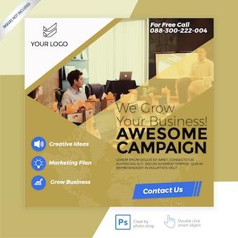 Banner di copertura di marketing aziendale facebook