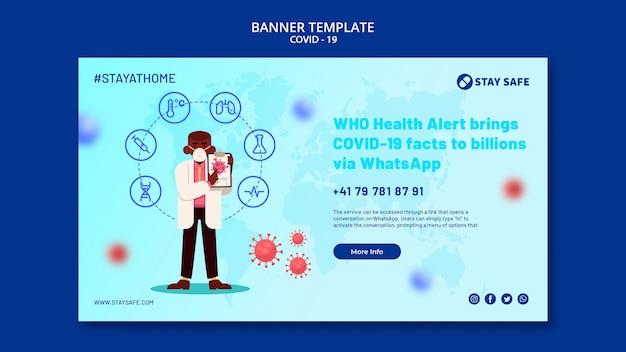 Banner di coronavirus con illustrazione
