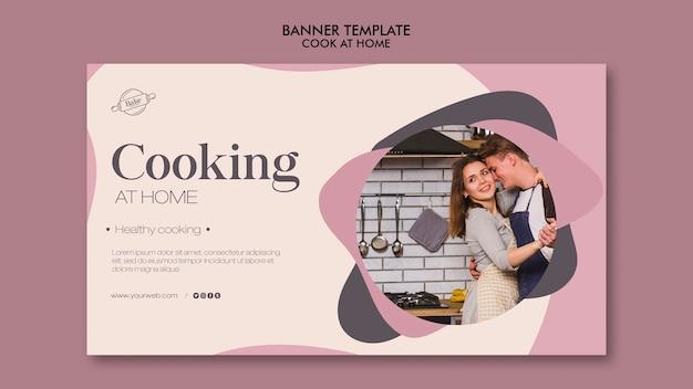 Banner di cucina a casa