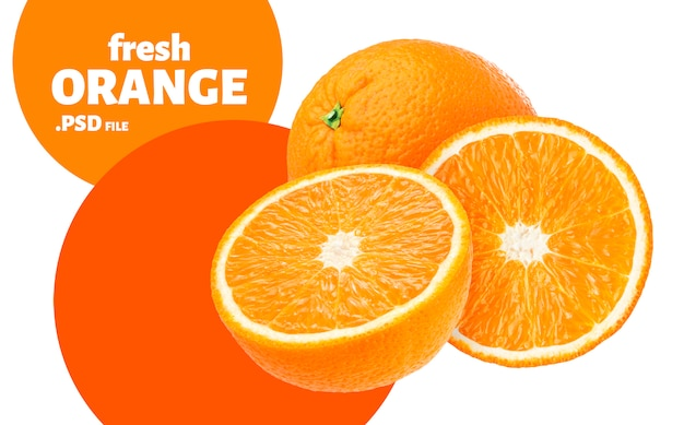 Banner di frutta arancione