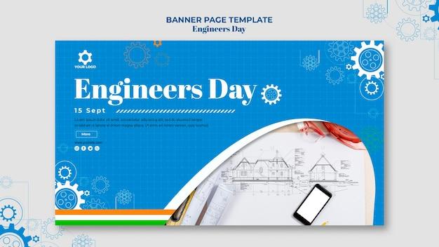 Banner di giorno degli ingegneri