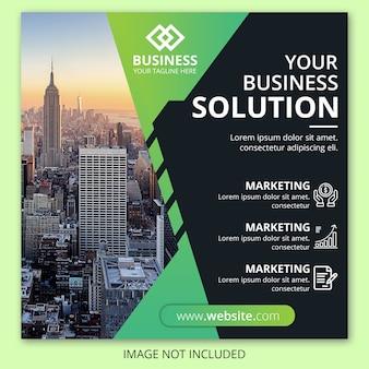 Banner di marketing web aziendale