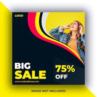 Banner di messaggi di social media di vendita