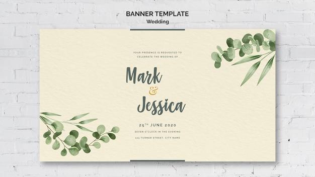 Banner di nozze con scritte