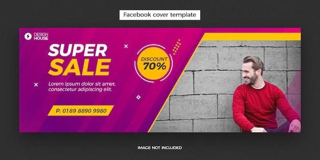 Banner di post di copertina facebook super vendita dinamica