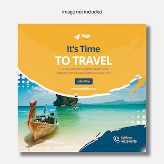 Banner di post media di viaggio