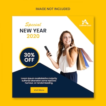 Banner di social media web di vendita di offerta speciale