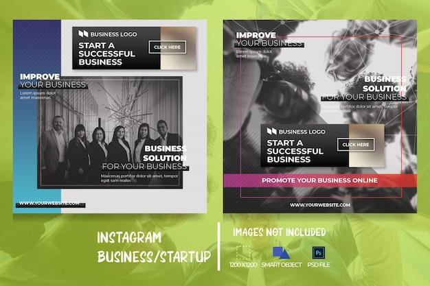 Banner di social media web marketing aziendale