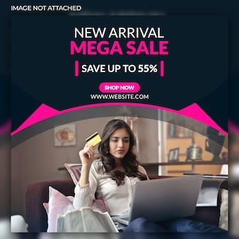 Banner di social web mega vendita