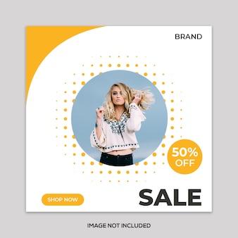 Banner di vendita di moda