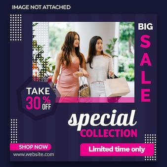 Banner di vendita grande instagram