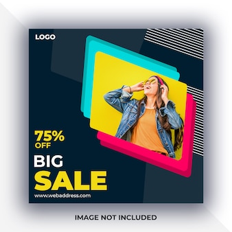 Banner di vendita social media post