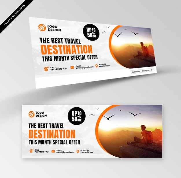 Banner di viaggio con fotografia