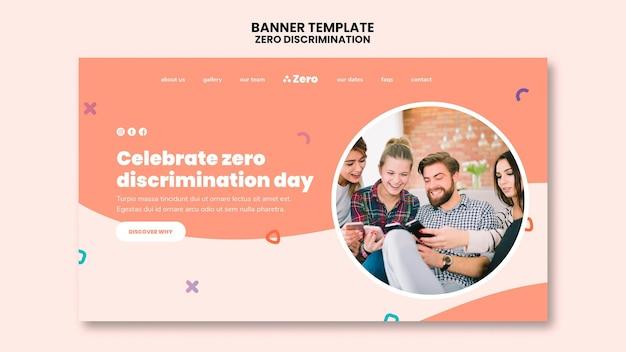 Banner del día de la discriminación cero