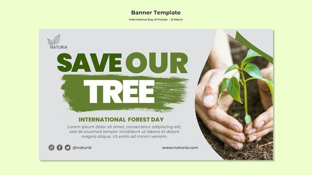 Banner del día internacional de los bosques