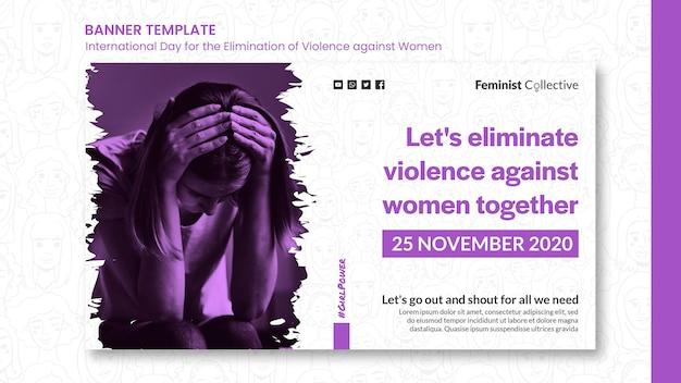 Banner para el día internacional para la eliminación de la violencia contra la mujer