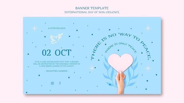 Banner del día internacional de la no violencia.