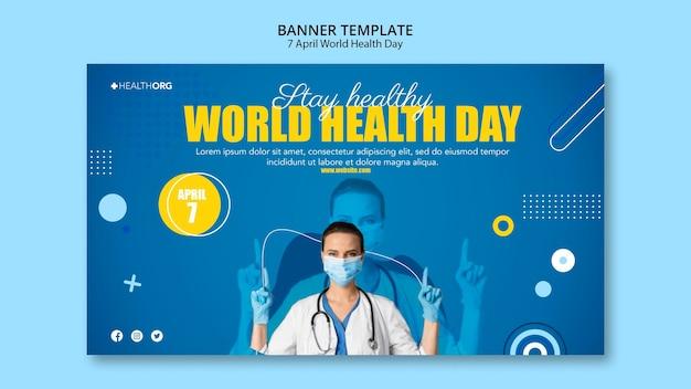 Banner del día mundial de la salud con foto