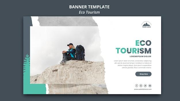 Banner eco toerisme sjabloon