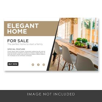 Banner elegant huis voor verkoopsjabloon