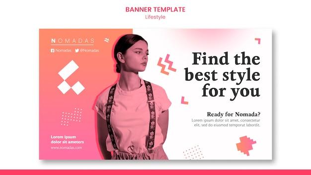 Banner de estilo de vida de moda