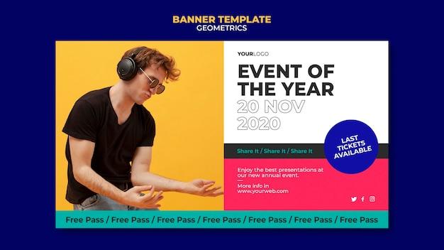 Banner evenement van het jaar-sjabloon