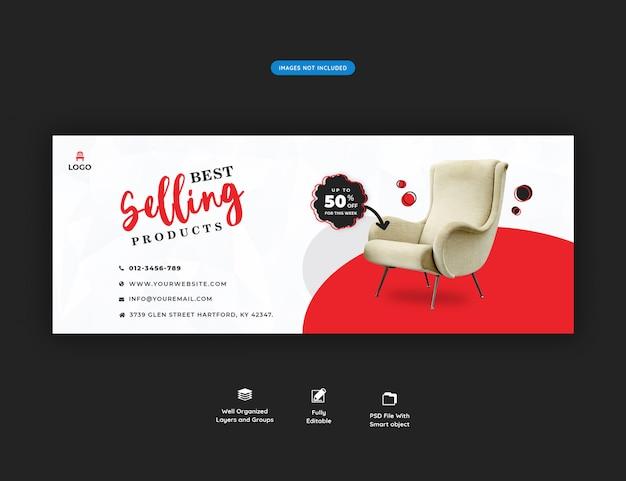 Banner facebook di vendita di mobili