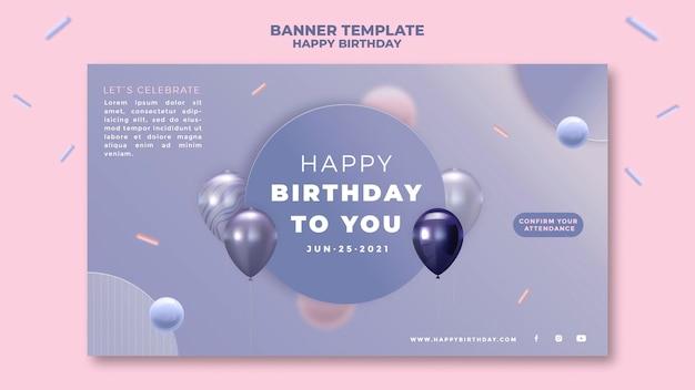 Banner de feliz cumpleaños