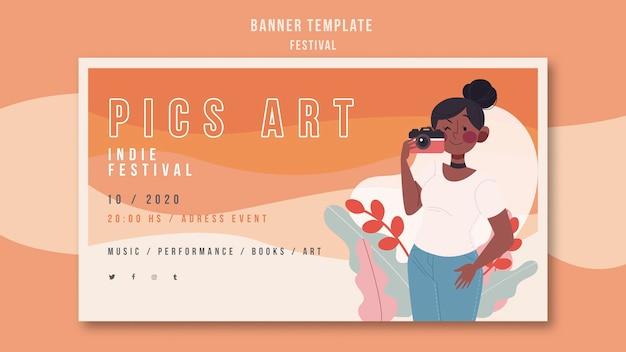 Banner festival advertentiesjabloon