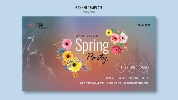 Banner de fiesta de primavera con foto