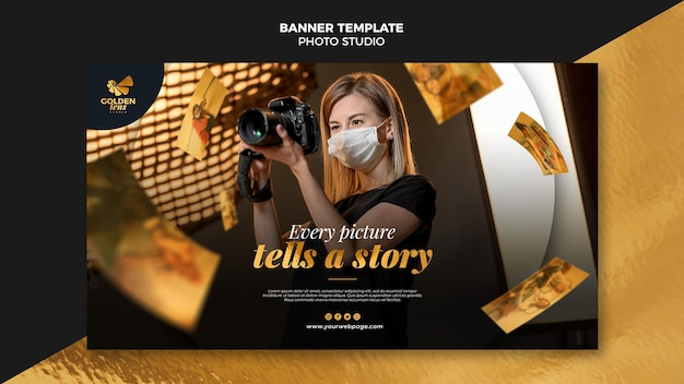 Banner fotostudio sjabloon