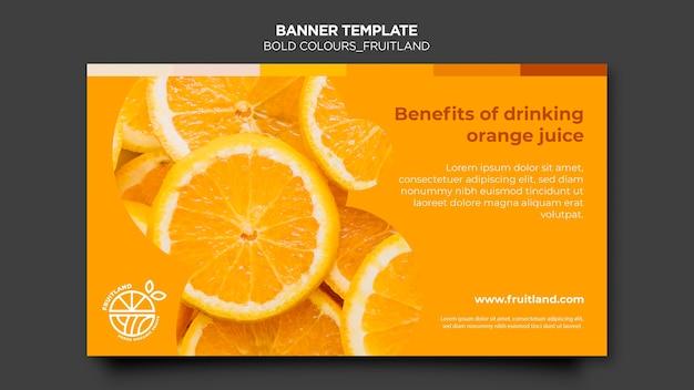 Banner de fruitland de colores llamativos